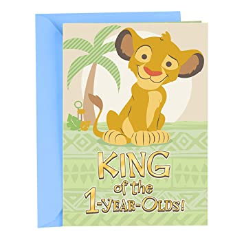 Hallmark First Birthday Card For A Boy Lion King Amazonca Office Products