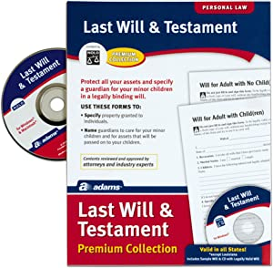Adams Last Will and Testament with CD, Forms and Instructions (ALFP117),White