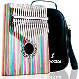Moozica 17 Keys Kalimba Thumb Piano, High Quality Tone Wood Marimba with Professional Kalimba Case and Learning Instruction (Bamboo-K17CF)