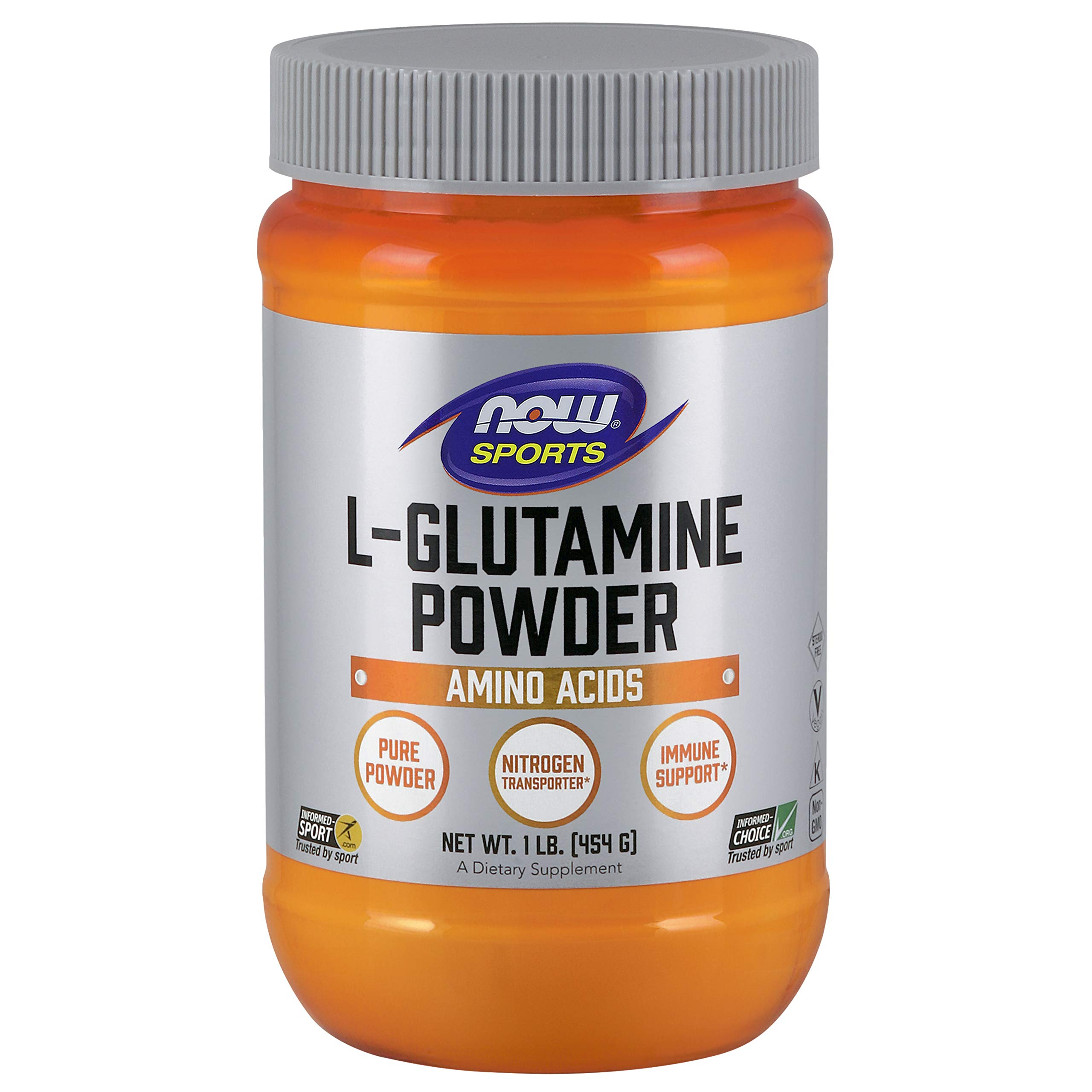 NOW Sports Nutrition, L-Glutamine Powder, 1-Pound by Now Sports