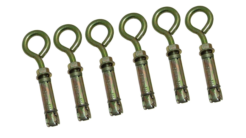 Amtech S5965 8 mm Closed Hook Bolts (6-Piece) AM-S5965
