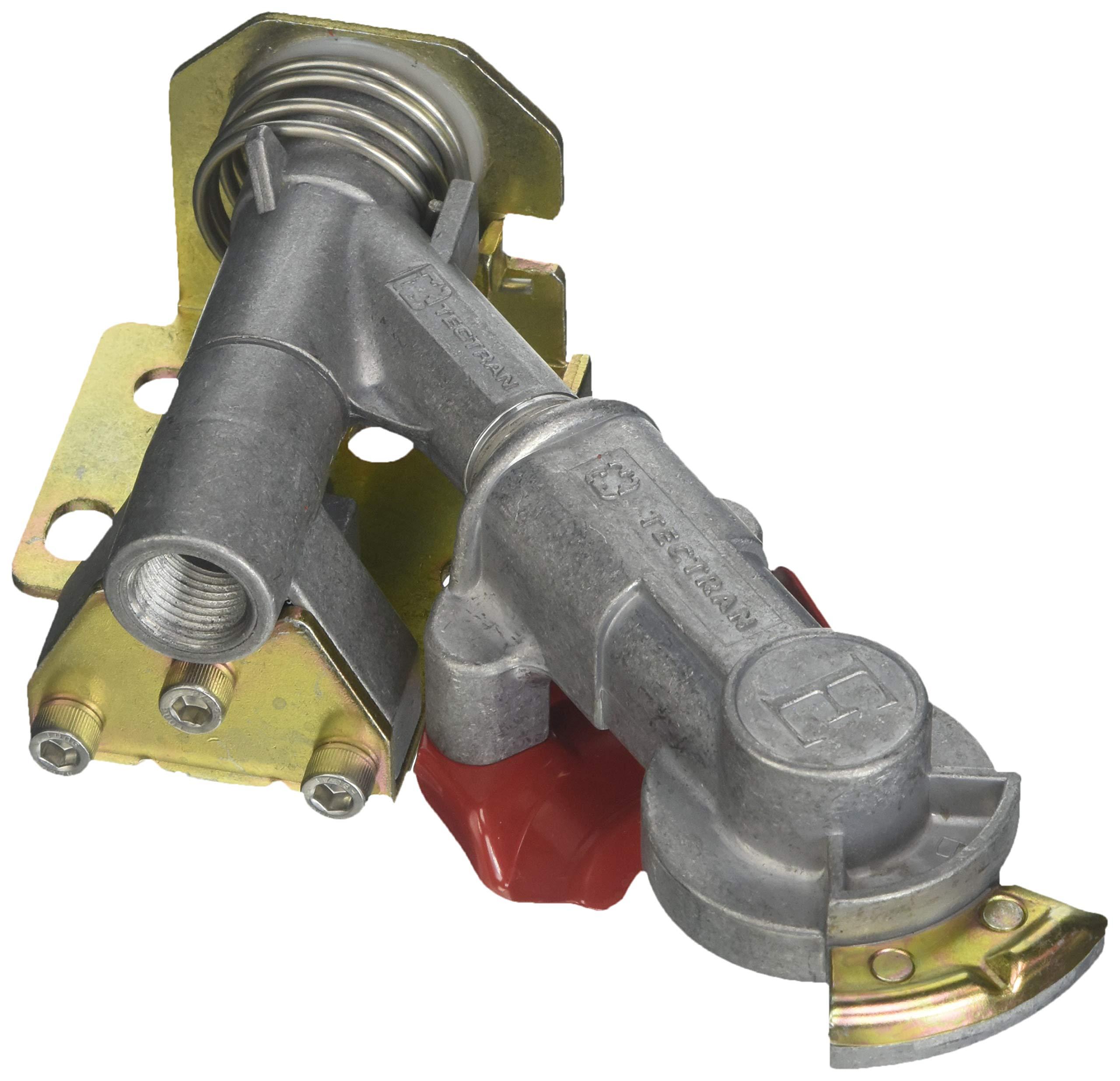 Tectran 9222 Bracket Mount Gladhand, Emergency Swivel Mount-45 Degrees, Aluminum, Unplugged, Plugged Port B (3/8'')