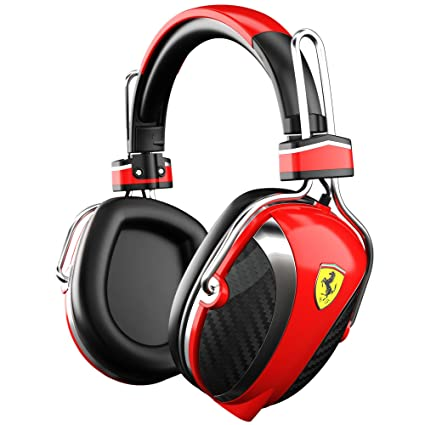 8c64a90c774 Amazon.com: Ferrari AAV-2LFH005R Scuderia P200 On-Ear Headphones - Red  (Discontinued by Manufacturer): Home Audio & Theater