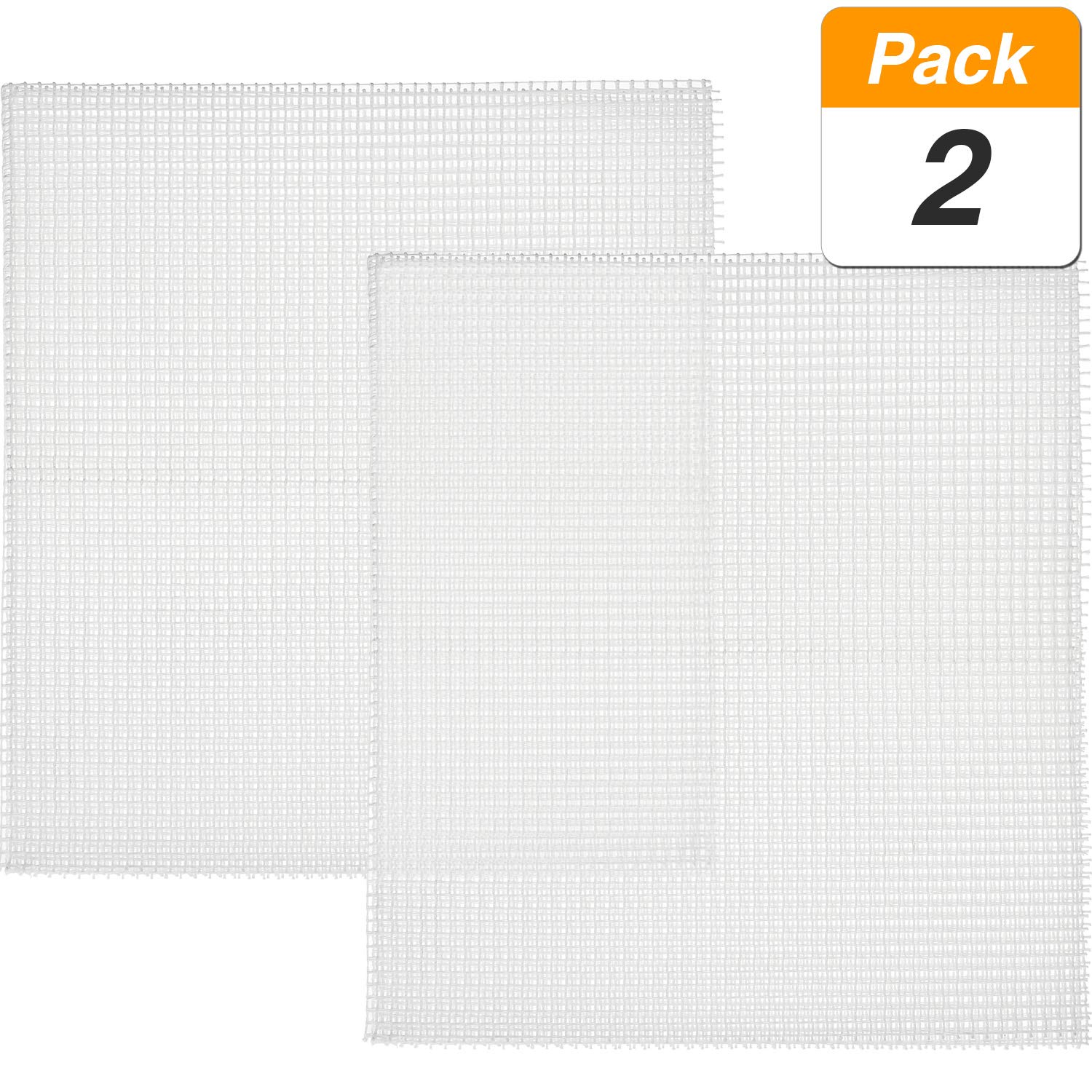 SATINIOR 2 Pieces Mesh Fabric Polyester Mesh for Wall Hanging Pillow Latch Hook Rug Craftwork Decoration, 30.3 x 23.6 inch
