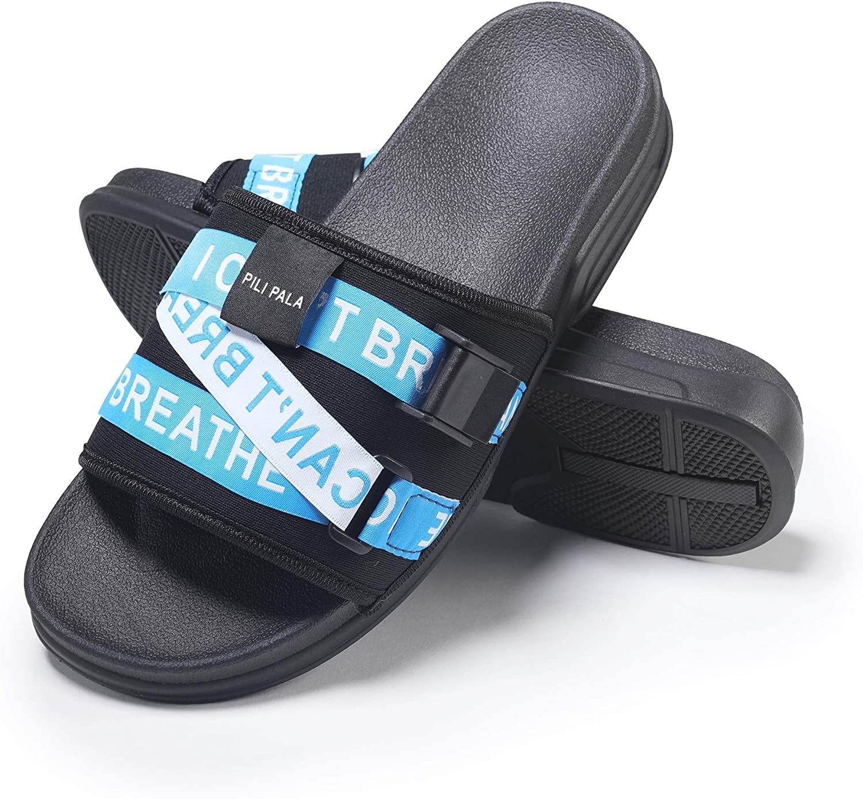 Amazon.com | Pilipala Slides Athletic Sport Slides House Bath Slippers  Platform Beach Sandals Slippers with Straps for Men Women | Slippers