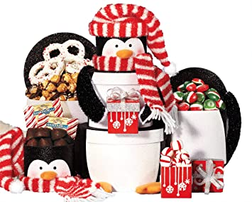 wine country gift baskets penguin tower 2 pound