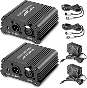 Amazon.com: Neewer® 2 Pack 1- Canal 48 V Phantom Power ...