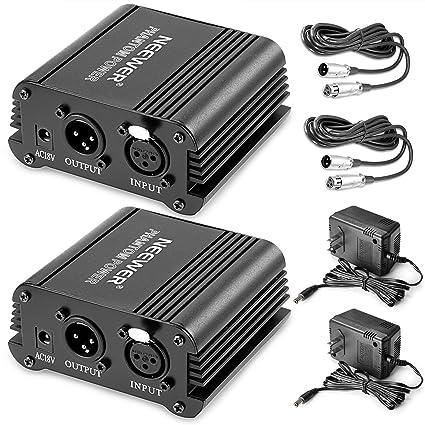 Amazon.com: Neewer® 2 Pack 1- Canal 48 V Phantom Power ...