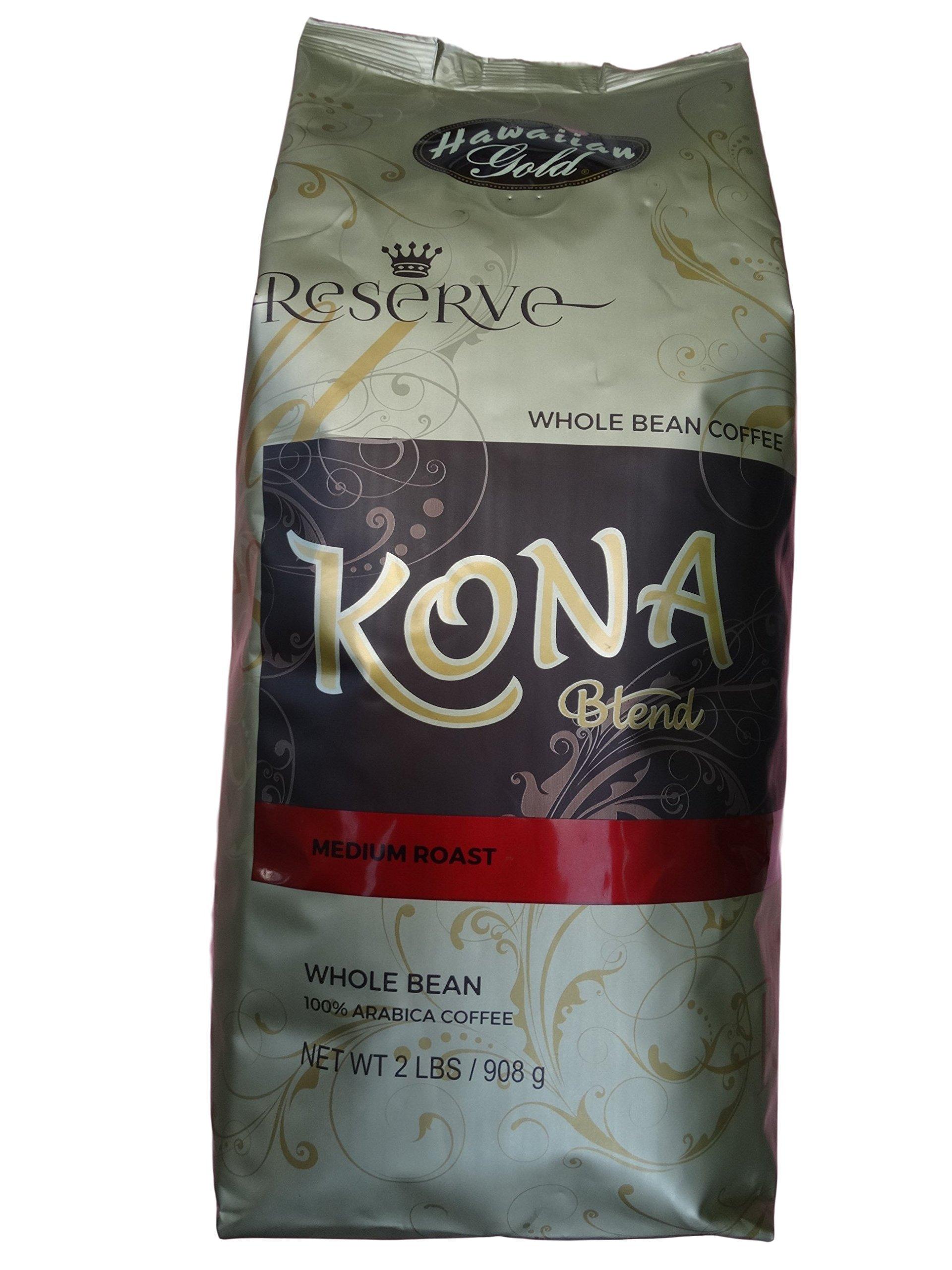 Hawallan Gold Kona Blend Coffee, 2 Pound