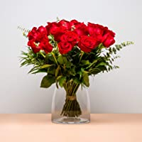 Ramo de 24 Rosas - Envío de Ramos de Flores Naturales a Domicilio 24h Gratis - Flores Frescas - Tarjeta dedicatoria…