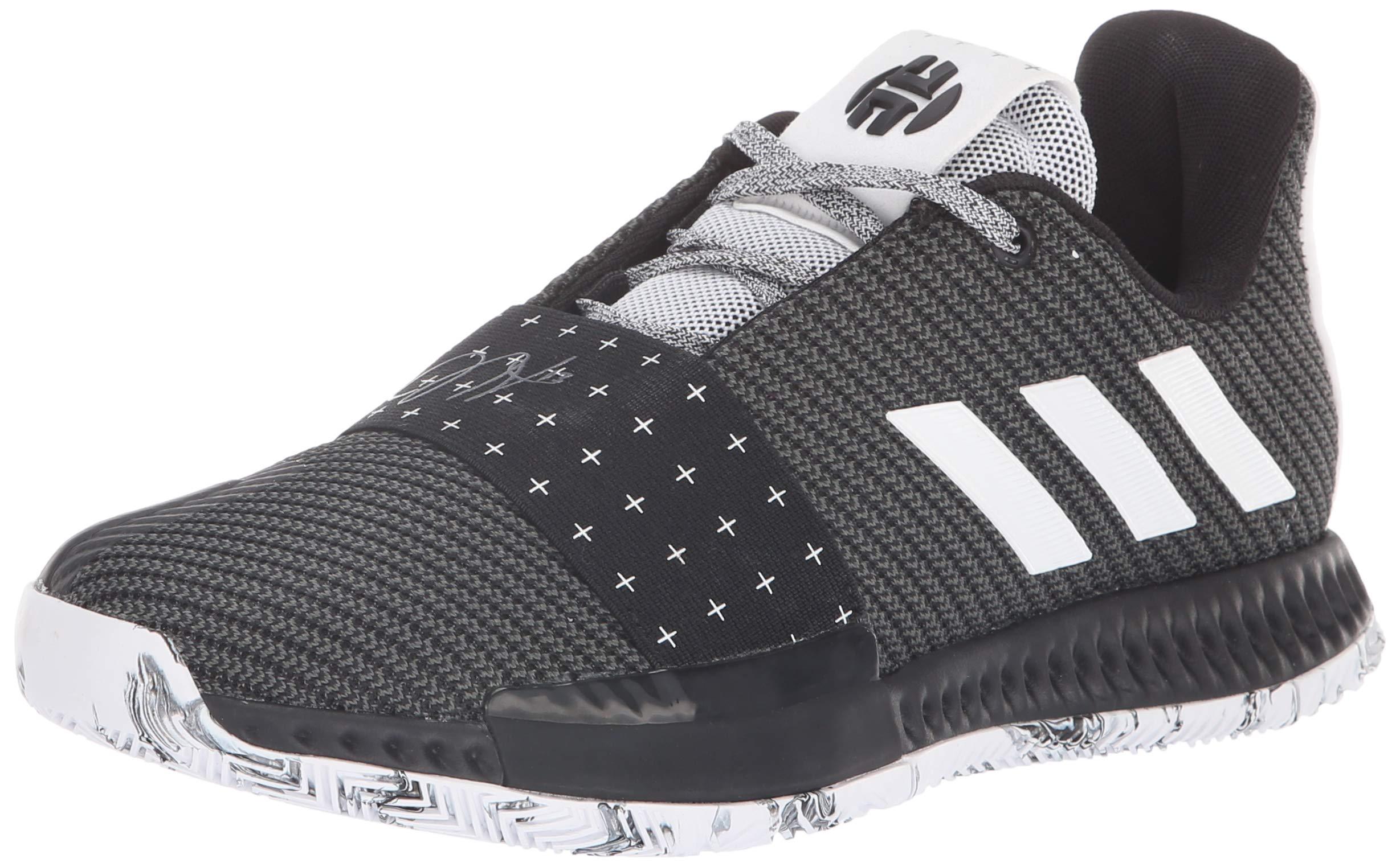 adidas Unisex Harden Vol. 3 Basketball Shoe, White/Black, 5 M US Big Kid