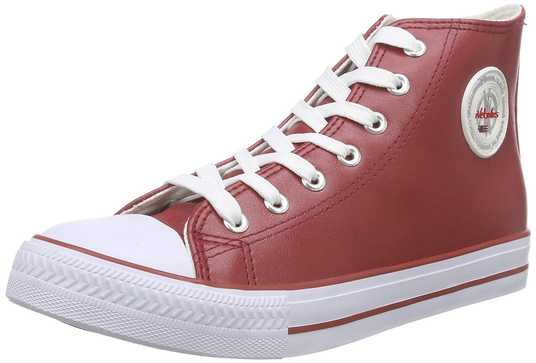 Nebulus Voll-Leder-Evo - Zapatilla Alta Mujer 40 EU|Rojo