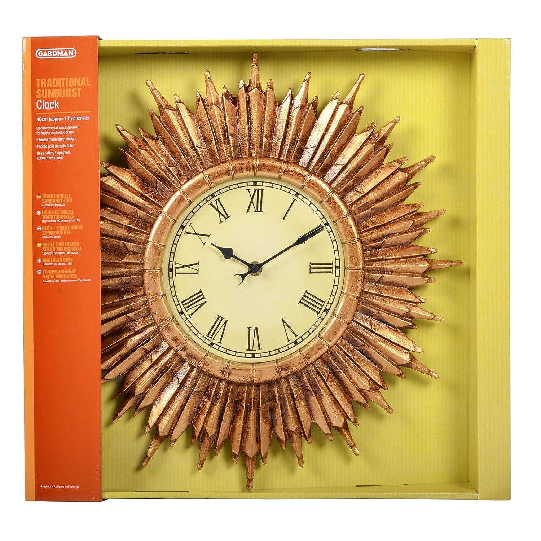 Gardman Clock with Roman Numerals, Multi-Coloured 17147