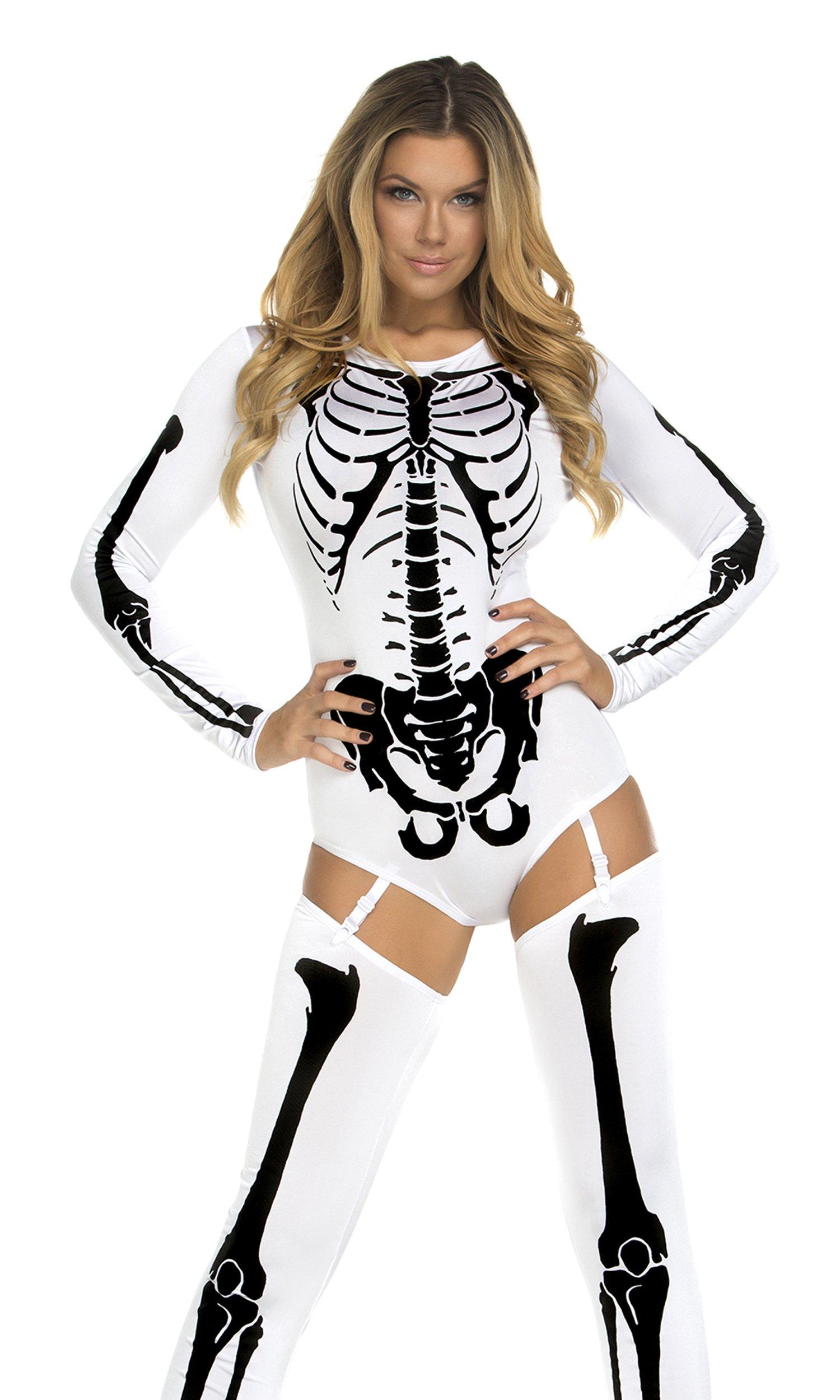 Forplay Women's Bone-A-Fide, White, Small/Medium