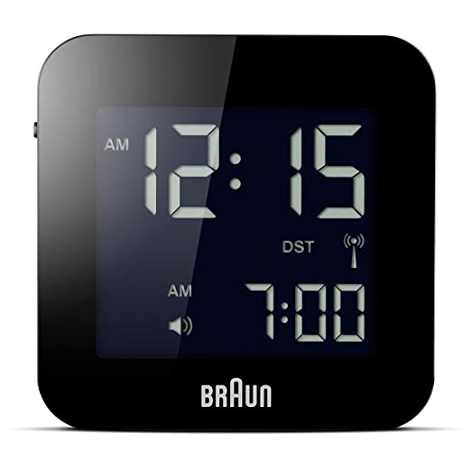 Braun BNC008BK-RC - Reloj despertador digital de viaje, color negro: Amazon.es: Relojes
