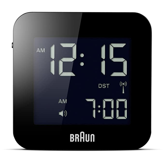 Braun Mens Digital Square Alarm Clock
