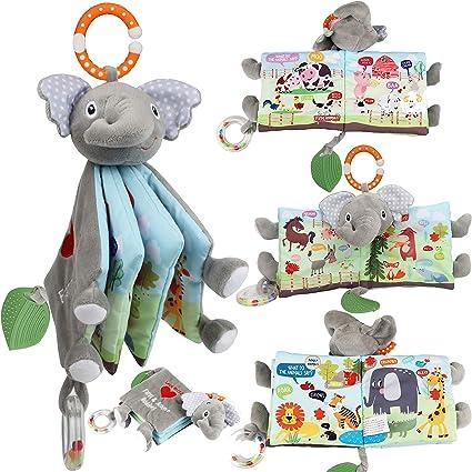 Newborn Baby Boy Girl First Soft Plush Rattle Cuddly Toy Small Bear Attachable