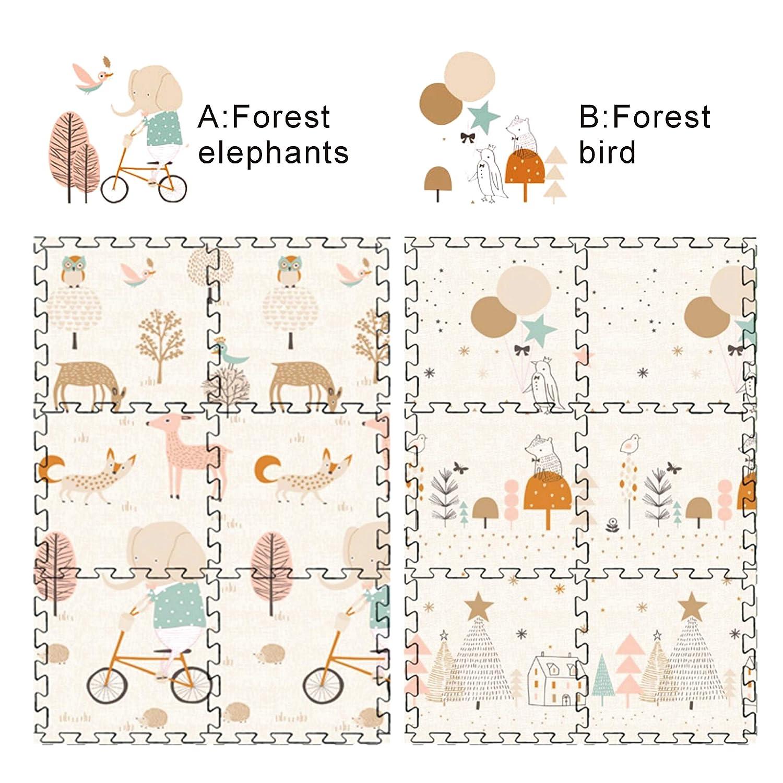 Teppich Kinder, Spielmatte Baby Baby-Spielmatte Baby Spielteppich 150 x 195x 1 cm Teppich Kinderzimmer Faltbarer Krabbelmatte Baby XPE-Schaumboden