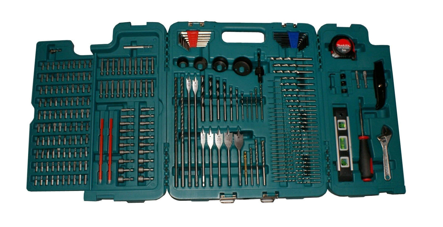 MAKITA 252 PIECE ACCESSORY KIT IN BLOW MOULDED CASE SCREWDRIVER, DRILLBITS GREAT FOR BUILDERS,TRADE,DIY by Makita (Image #2)