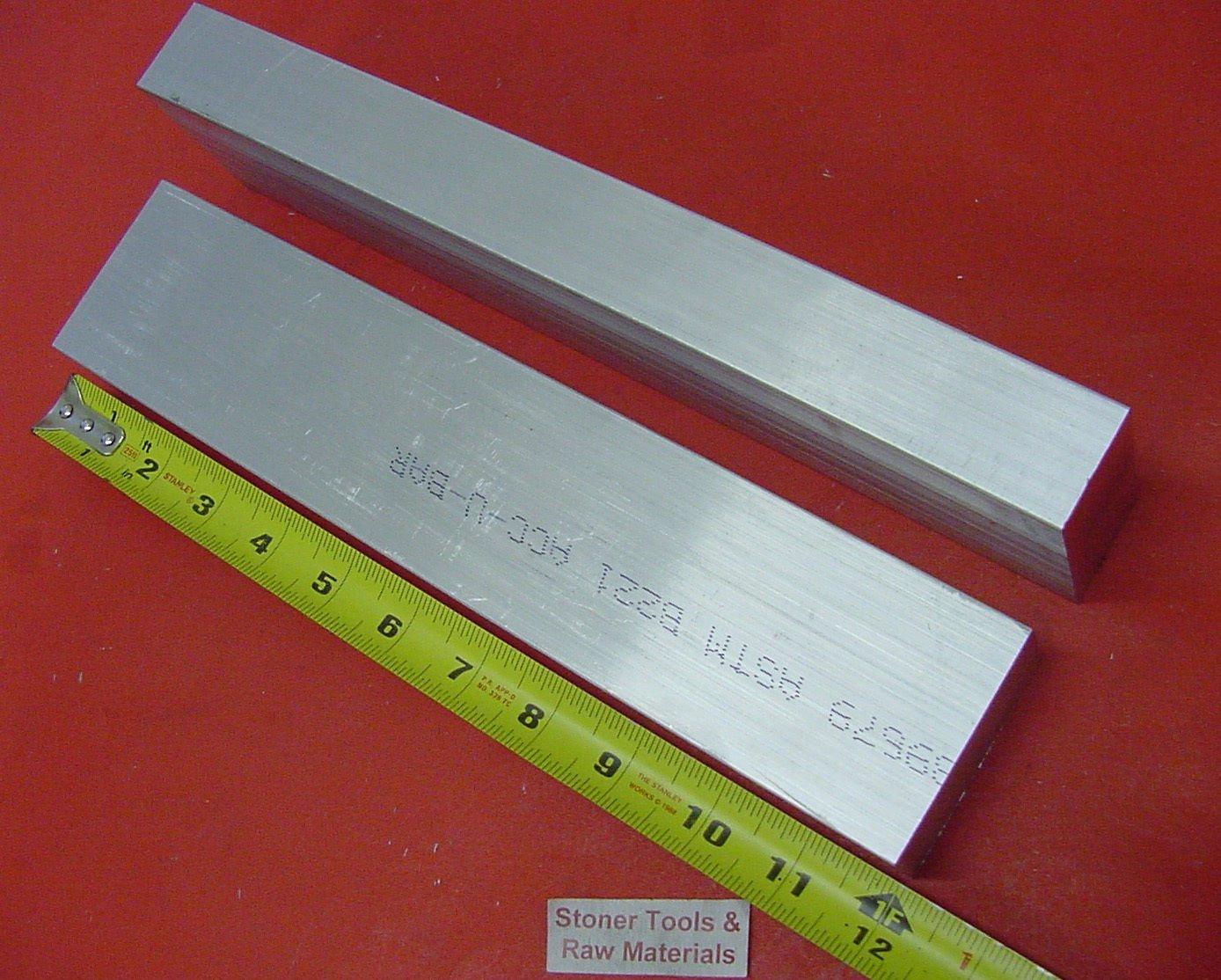 "2 Pieces 1-1/4"" X 2-1/2"" ALUMINUM 6061 FLAT BAR 12"" long Solid 1.250"" Mill Stock"