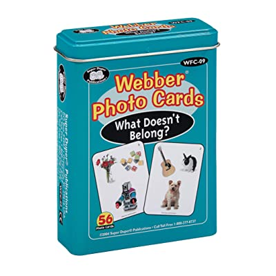 "Webber ""What Doesn't Belong?"" Photo Card Deck - Super Duper Educational Learning Toy for Kids: Toys & Games"
