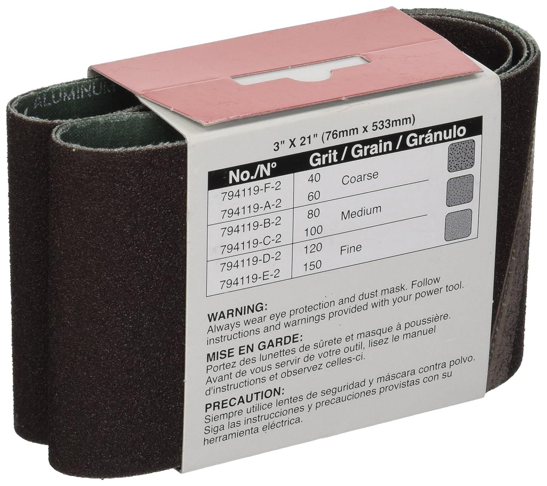 Makita 794119-B-2 No 80 Abrasive Belt, 2-Pack - Power Tool Combo Packs - Amazon.com