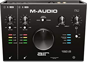 M-Audio AIR 192 8 - 2-In 4-Out USB Audio / MIDI Interface with Recording Software from Pro-Tools & Ableton Live, Plus Studio-Grade FX & Instruments