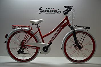 Cicli Ferrareis Bici Bicicletta Bike City Bike Donna 28 In Alluminio