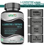 Naturyz L- Carnitine L- Tartrate 1000mg (Double Strength Formula) Amino acid for Muscle, Brain & Heart -60 tablets
