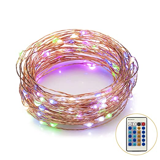 Amazon.com : Led Dimmable Starry String Lights with Remote Control ...