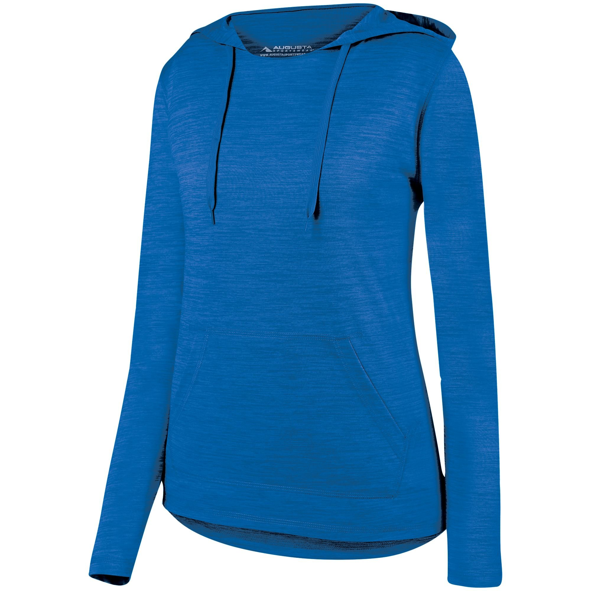 Augusta Sportswear Women's Shadow Tonal Heather Hoody M Royal