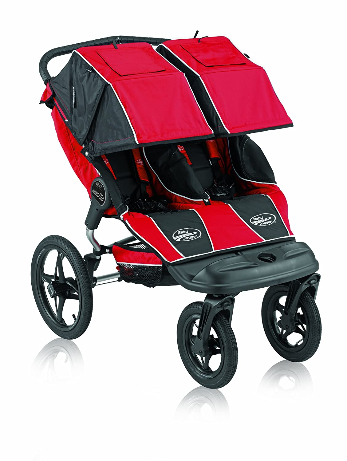 Amazon Com Baby Jogger Summit 360 Double Jogging Stroller Red