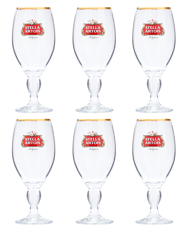Stella Artois 6-Pack Original Glass Chalice, 33cl