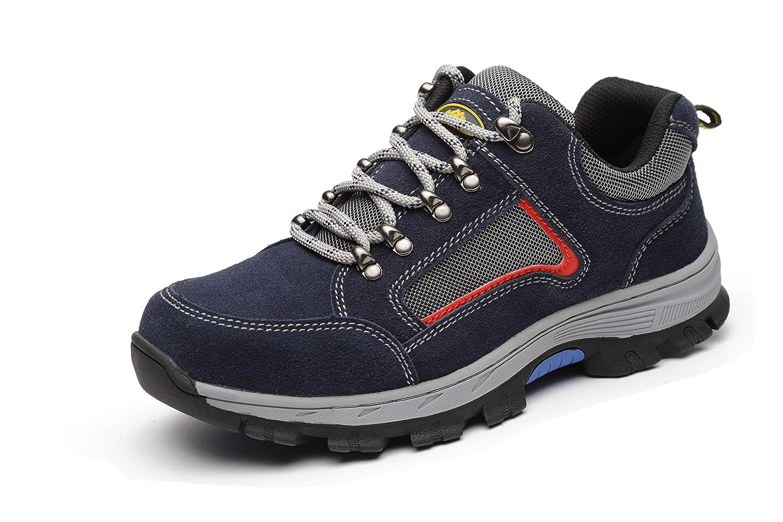 Aizeroth-UK Chaussure Chaussure de Sécurité Respirant S3 Chaussure Aizeroth-UK de Travail Embout de Protection en Acier Semelle de Protection Anti-Collision Prévention des piqûres Bottes Baskets Chantiers et Industrie 35 EU|Bleu-1 d8db15