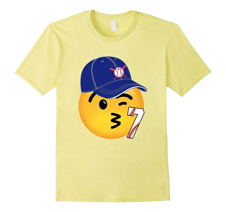 7th Birthday Baseball Emoji Shirt CD
