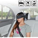 TFY Reiseschlafmaske mit Auto Kopfstützenhalter