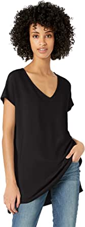Amazon Brand - Daily Ritual Women's Supersoft Terry Dolman-Sleeve V-Neck Tunic