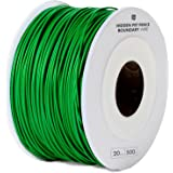 Electric Dog Fence Boundary Wire - 500ft Spool of 20 Gauge Solid Copper Core Wire for In-ground and Underground Fence Containment System with High Grade, Polyethylene Insulation – Green