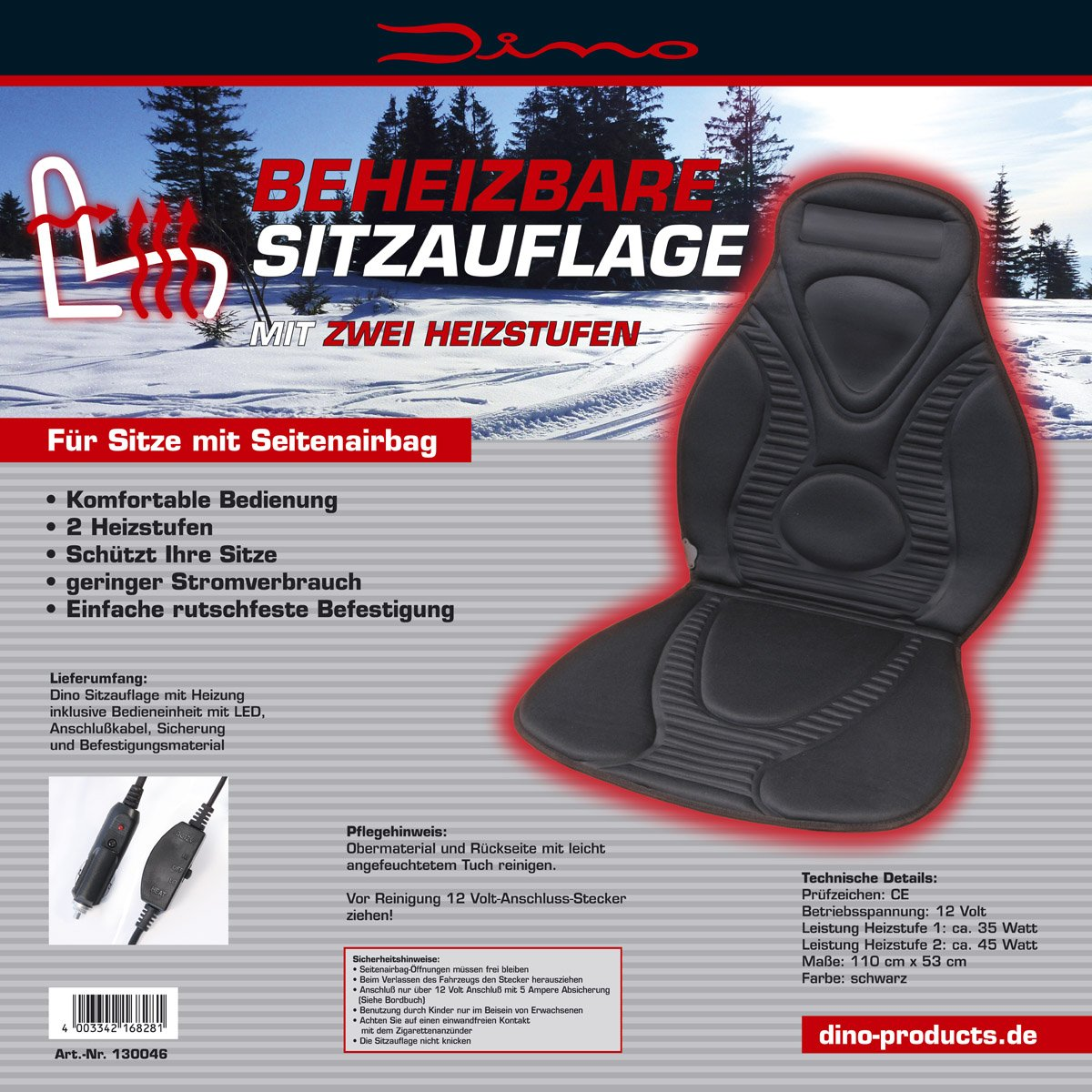 Dino 130046 Heated Seat Cover