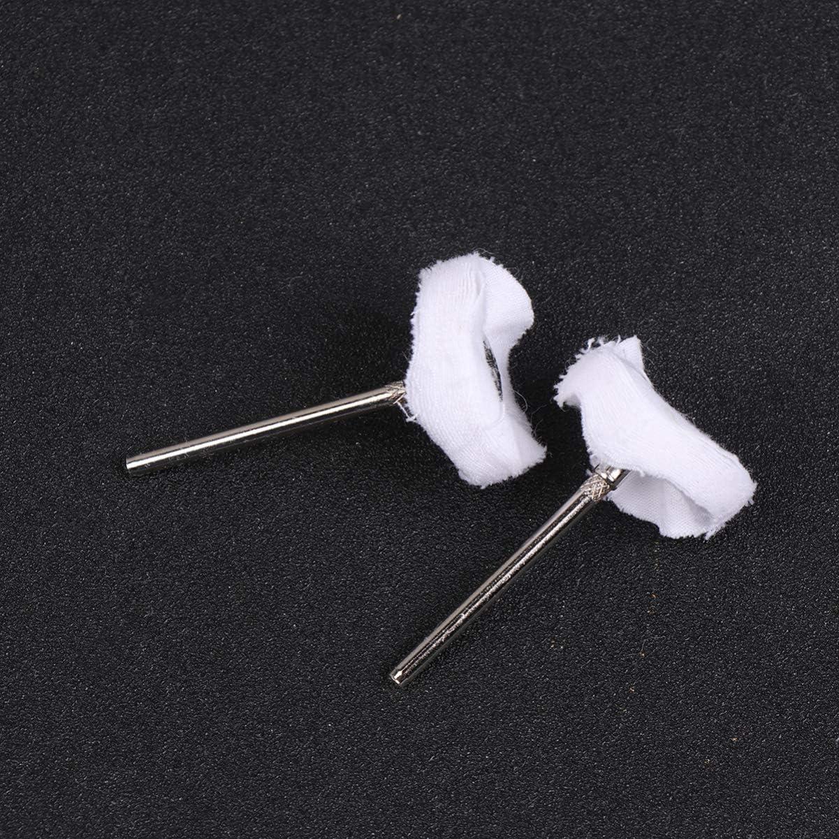 DOITOOL 20 Pcs Mini Polissage Polissage Roue Ensemble Coton Petite Roue Polie pour Outils de Forage Rotatif Accessoires Blanc