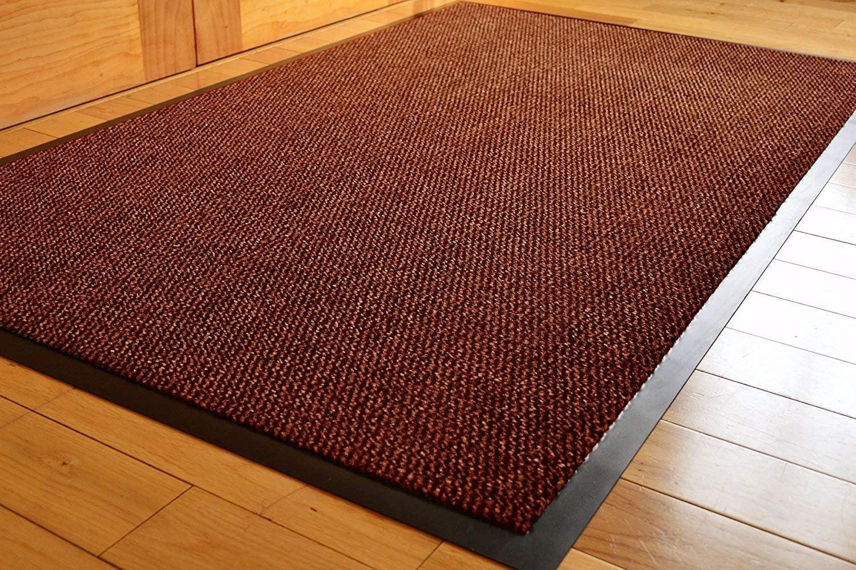 TrendMakers Dirt Stopper Carpet Runner 40cm x 60cm Beige//Black.With Non-Slip Back Home Office Multipurpose Mats