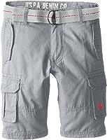 U.S. Polo Assn. Boys' Solid Cargo Short with Belt