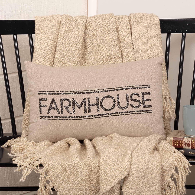 VHC Farmhouse 14x22 Throw Decorative Accent Pillow Sofa Couch Pillow Tan