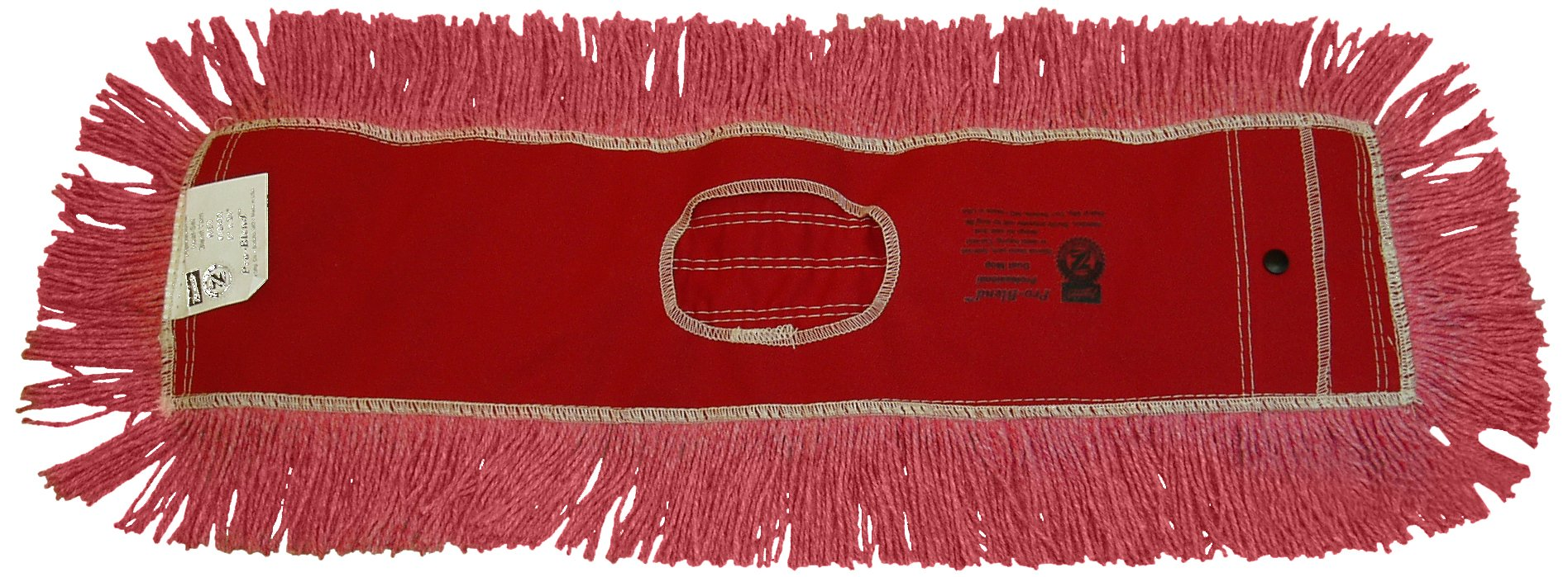 Zephyr 12436 Pro-Blend Red Dust Mop Head, 60'' Length x 5'' Width (Pack of 6) by Zephyr (Image #1)