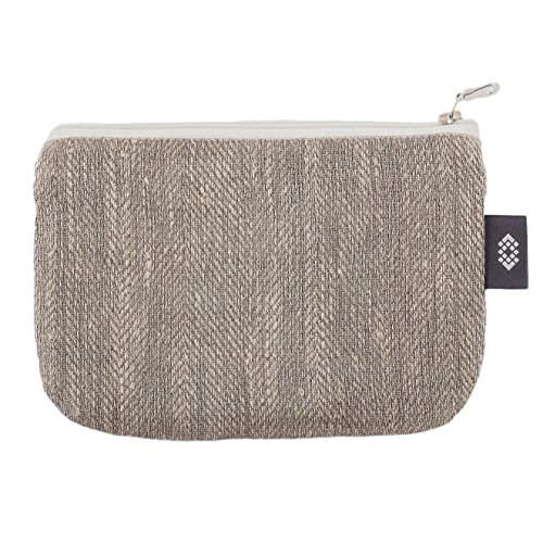 79cd60785fb9 Amazon.com  Handmade Gray Linen Cosmetic Bag - 7x9 inch Makeup Pouch  Zippered Cosmetic Clutch Canvas Travel Case  Handmade