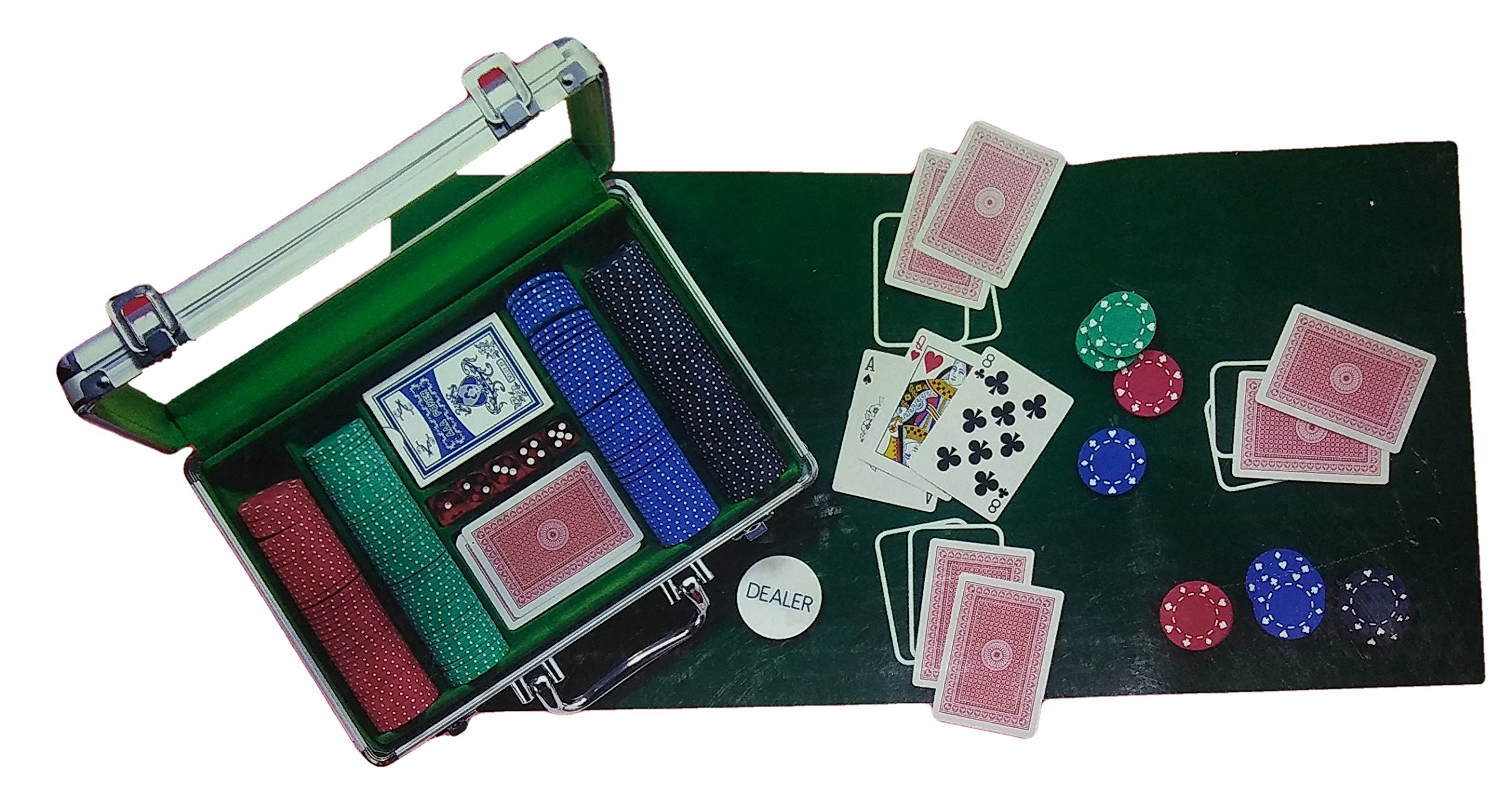 Travel Poker Set In Aluminum Case with Clear Plastic Cover by Target