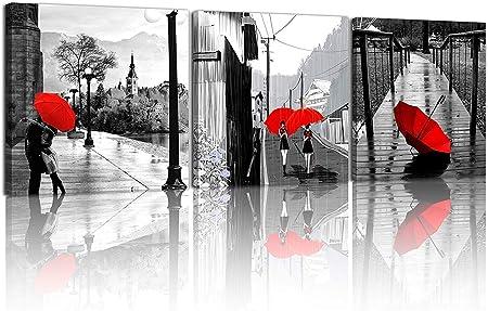 Sotrong Art 3 Pcs Moderne Giclee Impressions Sur Toile Noir Et