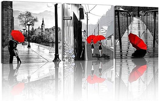 SotRong Art - 3 lienzos modernos de Giclée, en blanco y negro, con ...