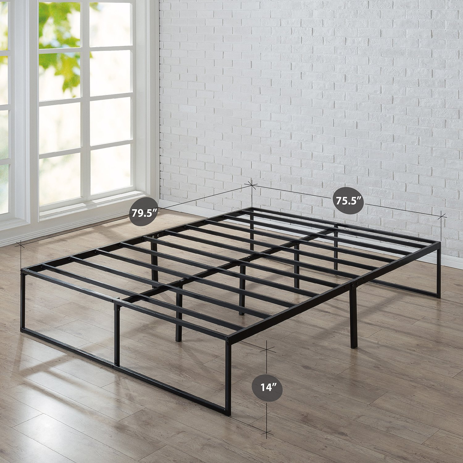 Zinus 14 Inch Platforma Bed Frame, Mattress Foundation, No Box Spring needed, Steel Slat Support, King by Zinus (Image #2)