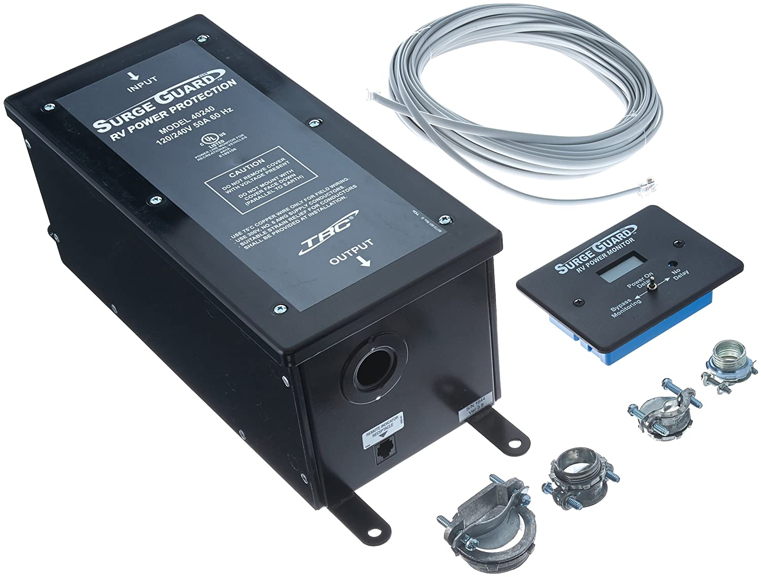 Technology Research 40240 50 Amp Surge Guard with LCD